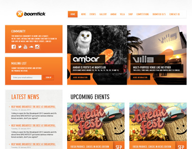 Boomtick website