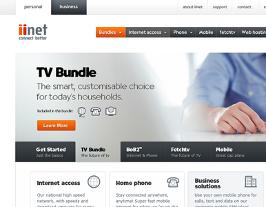 iiNet website