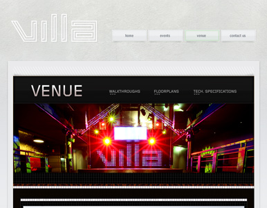 Villa nightclub website